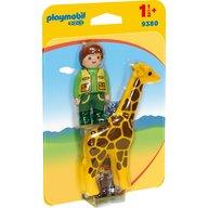 Playmobil - Ingrijitor Zoo cu girafa