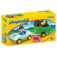 Playmobil - Masina cu remorca si calut