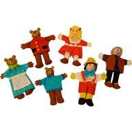 BigJigs - Papusi degetar 2 in 1 Pinochio si Povestea Cei trei ursuleti