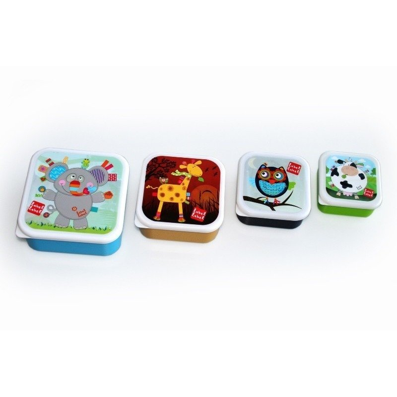 4 Cutii Sandwich Patrate Label-Label din categoria Prepararea hranei de la Label-Label Olanda