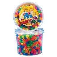 Hama - Set margele de calcat Mixt51 600 buc, In borcan de plastic Maxi