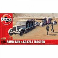 Airfix - Kit constructie tun antitanc 88mm Gun SD KFZ Tractor
