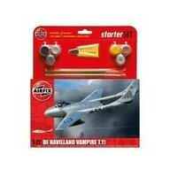 Airfix - Kit constructie si pictura avion De Havilland Vampire T11