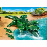 Playmobil - Set figurine Aligator cu pui Family Fun