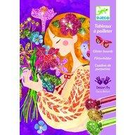 Djeco - Atelier creativ cu sclipici, Parfumul florilor