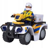 Simba - ATV Police Cu accesorii, Cu figurina Malcolm Pompierul Sam