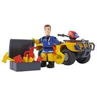 Simba - ATV  Fireman Sam, Sam Mercury Quad cu figurina Sam si accesorii