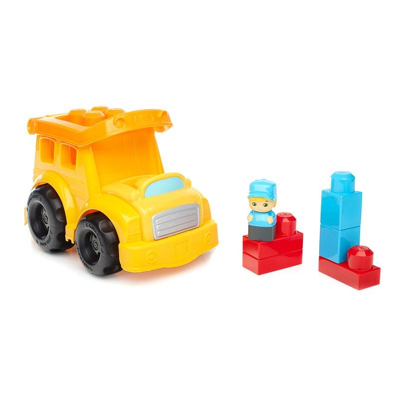 Autobuz scolar cu cuburi Mega Bloks din categoria Seturi constructii si cuburi de la Fisher-Price