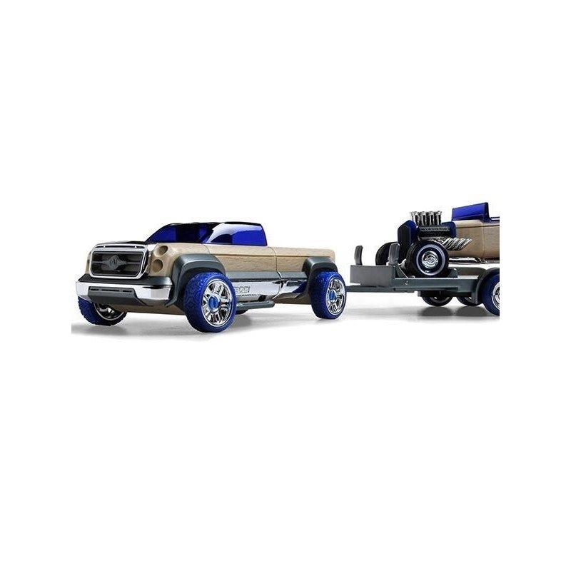 Automoblox Set Mini T-900 truck si HR-2 hot rod trailer din categoria Jucarii educative de la Automoblox