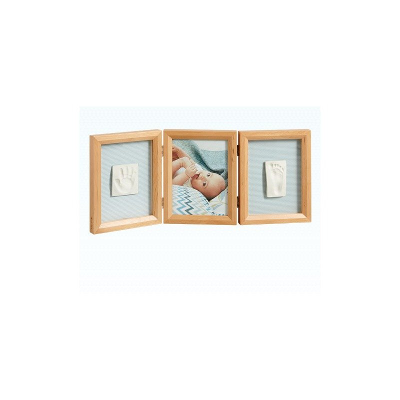 Baby Art Double Print Frame Honey din categoria Kit-uri amprenta mulaj de la BABY ART