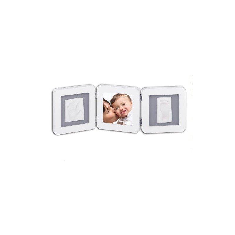 Baby Art Double Print Frame White & Grey din categoria Kit-uri amprenta mulaj de la BABY ART