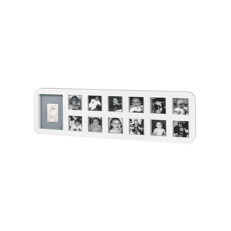 Baby Art First Year Print Frame White & Grey din categoria Kit-uri amprenta mulaj de la BABY ART
