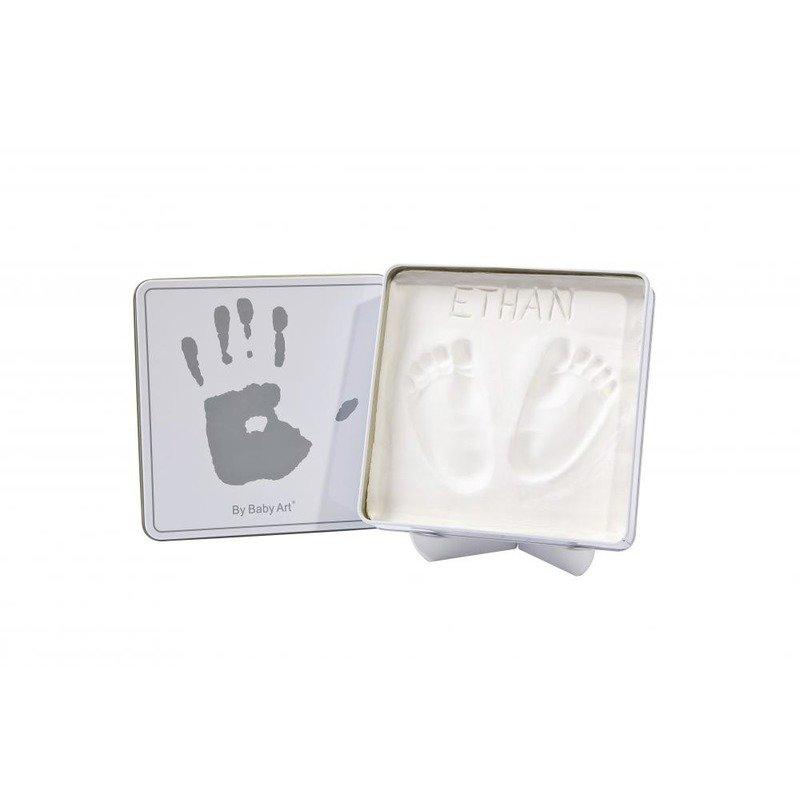 Baby Art Magic Box (Square) White & Grey