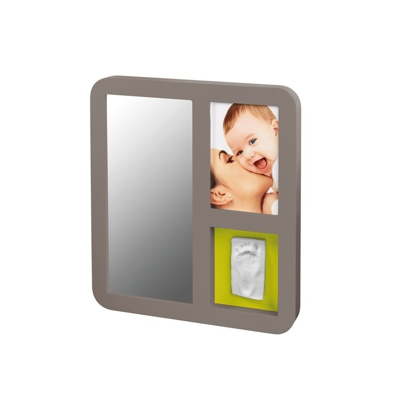 Baby Art Mirror Print Frame Taupe & Lime din categoria Kit-uri amprenta mulaj de la BABY ART