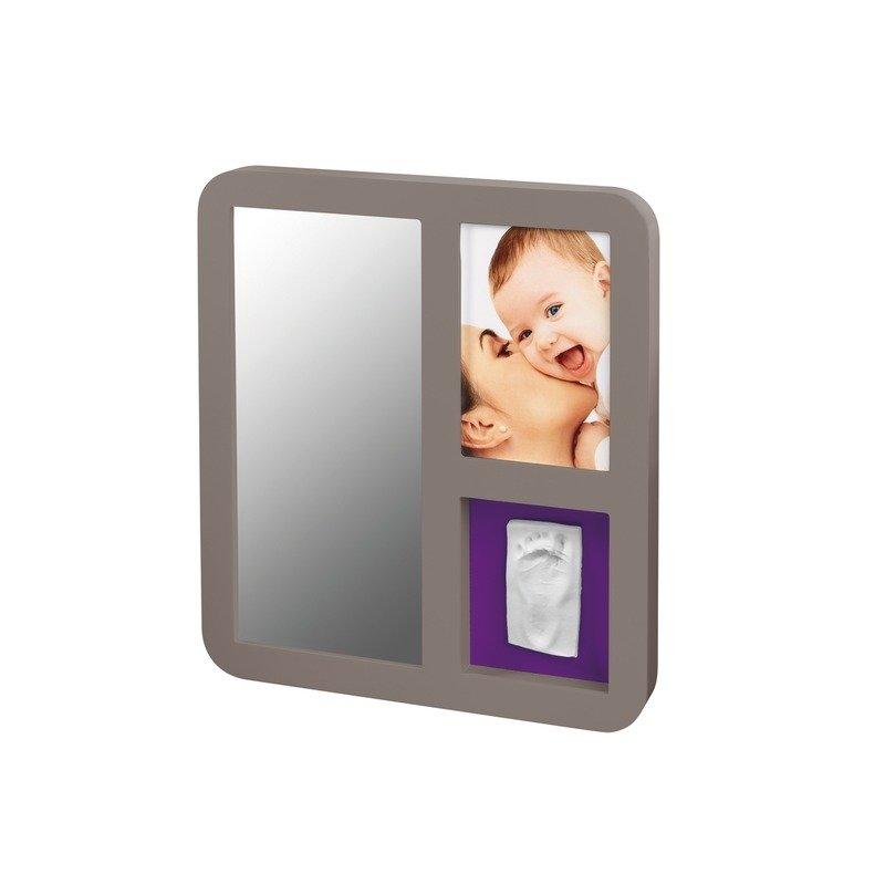 Baby Art Mirror Print Frame Taupe & Plum din categoria Kit-uri amprenta mulaj de la BABY ART