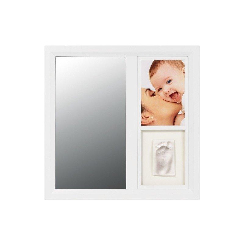 Baby Art Mirror Print Frame White