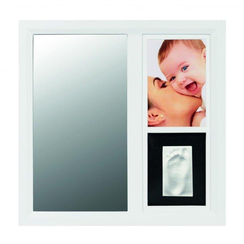 Baby Art Mirror Print Frame White & Black