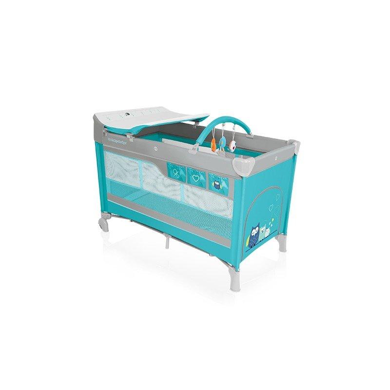Baby Design Dream 05 turquoise 2016 – Patut pliabil cu 2 nivele din categoria Patuturi pliante de la Baby Design