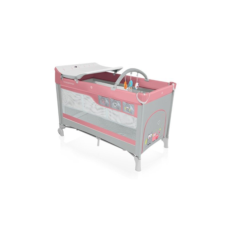 Baby Design Dream 08 pink 2016 - Patut pliabil cu 2 nivele