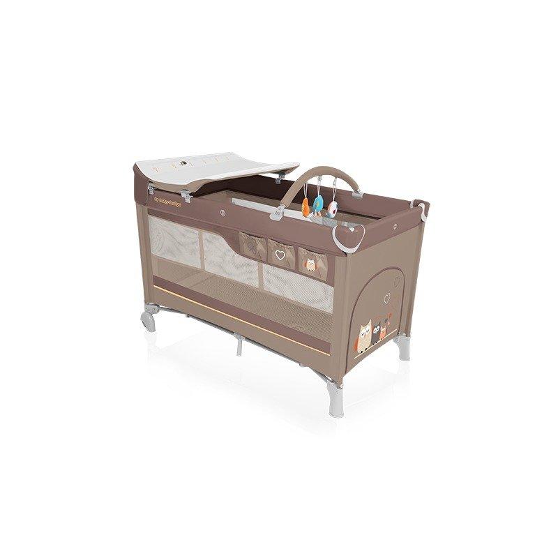 Baby Design Dream 09 beige 2016 - Patut pliabil cu 2 nivele