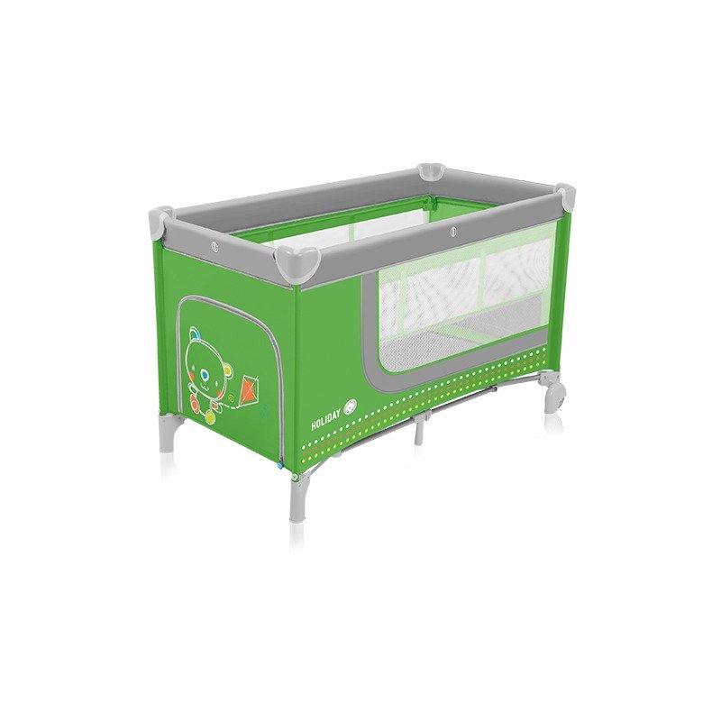 Baby Design Holiday 04 green – patut pliabil cu 2 nivele din categoria Patuturi pliante de la Baby Design