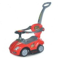 Baby Mix - Vehicul de impins Multifunctional 3 in 1 Ride On, Rosu, Resigilat