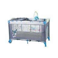 BabyGo - Patut pliant cu 2 nivele SleepWell, Blue