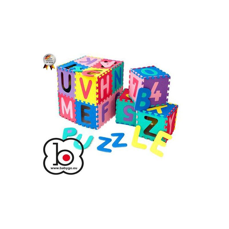 Babygo Salteluta de joaca cu cifre si litere puzzle 36 piese