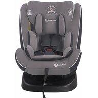 BabyGo - Scaun auto Nova 360 Spatar reglabil, Protectie laterala, Rotire 360 grade, 0-36 Kg, Gri