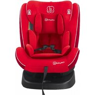 BabyGo - Scaun auto Nova 360 Spatar reglabil, Protectie laterala, Rotire 360 grade, 0-36 Kg, cu Isofix, Rosu