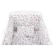 BabyNeeds - Lenjerie patut 5 piese 120x60 cm, Unicorni, Roz