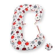 BabyNeeds - Perna 3 in 1 pentru gravide si bebelusi Soft Plus, Bulinute rosii