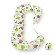 BabyNeeds - Perna 3 in 1 pentru gravide si bebelusi Soft Plus, Bulinute verzi