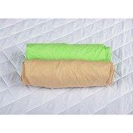 BabyNeeds - Set 2 cearceafuri cu elastic 120x60 cm, Cappuccino+Verde