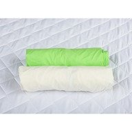 BabyNeeds - Set 2 cearceafuri cu elastic 120x60 cm, Crem+Verde