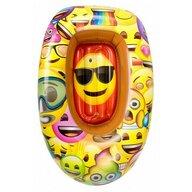 Saica - Barca gonflabila pentru copii, 90 cm, Emoji
