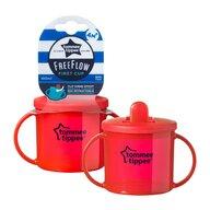 Tommee Tippee - Cana First Cup Basics, gradata, 190 ml, Rosu