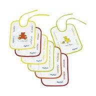 Hausmann (A-Haberkorn) - Set bavete 7 bucati, Frotir/Plastic Playshoes, 25x20 cm