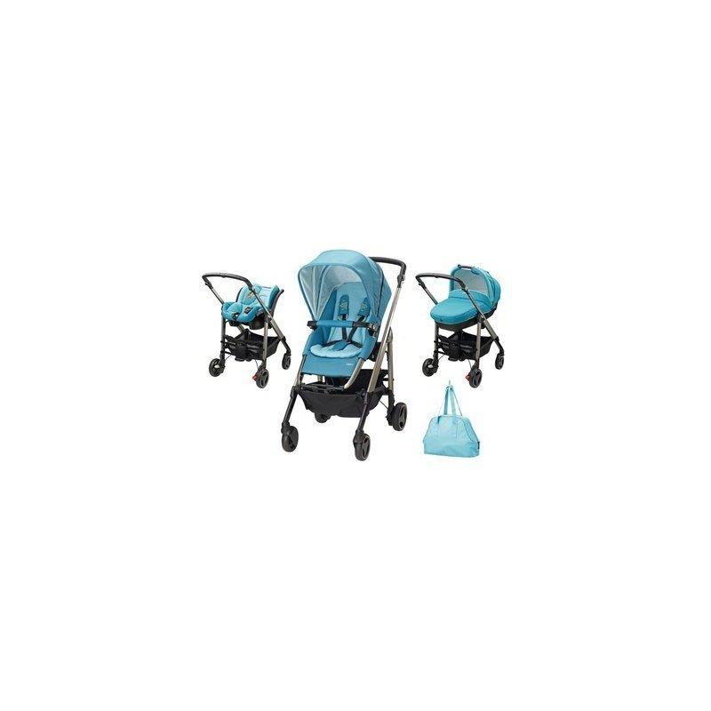 Bebe Confort Carucior Trio Loola Excel Mosaic Blue din categoria Carucioare copii de la Bebe Confort