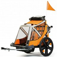 Bellelli - Remorca de bicicleta B-Travel Pana la 32 kg, Portocaliu