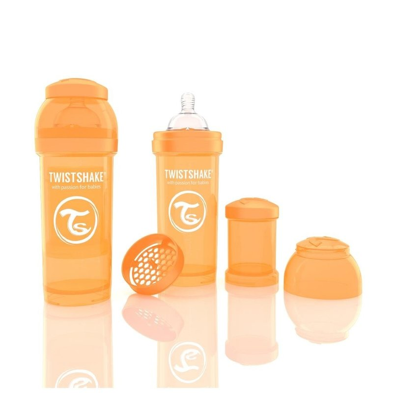 Twistshake Biberon Anti-colici 260 ml Portocaliu din categoria Biberoane de la Twistshake