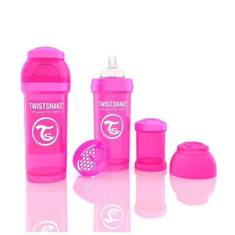 Twistshake Biberon Anti-colici 260 ml Roz