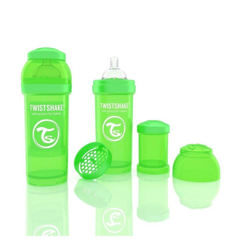 Twistshake Biberon Anti-colici 260 ml Verde din categoria Biberoane de la Twistshake
