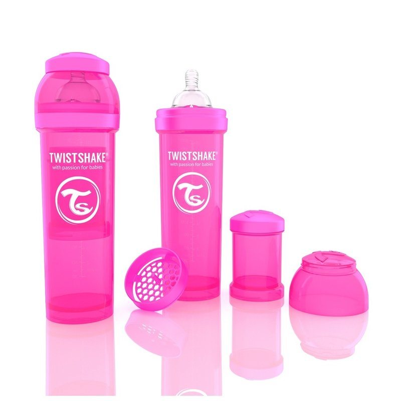 Biberon Anti-colici 330 ml Twistshake Roz din categoria Biberoane de la Twistshake