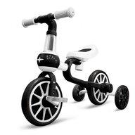 Ecotoys - Bicicleta cu pedale LC-V1311 , Cu roti ajutatoare, Alb/Negru