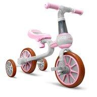 Ecotoys - Bicicleta cu pedale LC-V1311 , Cu roti ajutatoare, Roz