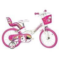Dino Bikes - Bicicleta cu pedale Unicorn, 16