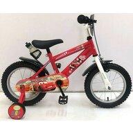 Volare - Bicicleta pentru baieti, 14 inch, cu roti ajutatoare, partial montata, Cars