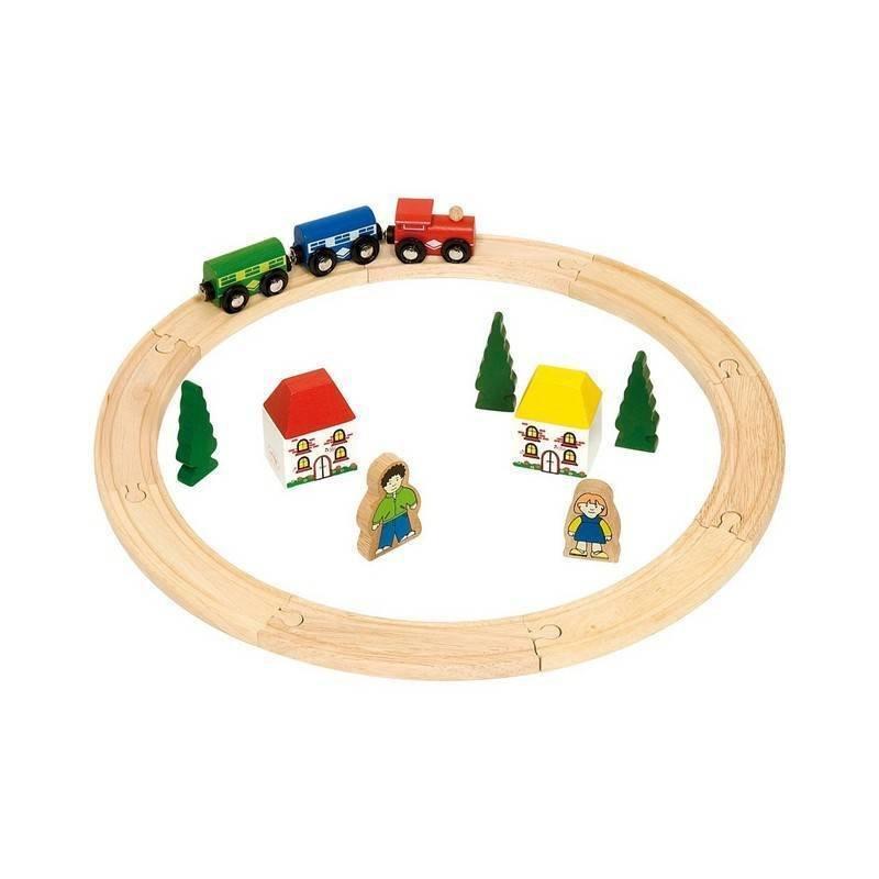 BigJigs Primul meu tren – set din categoria Jucarii de lemn de la BigJigs