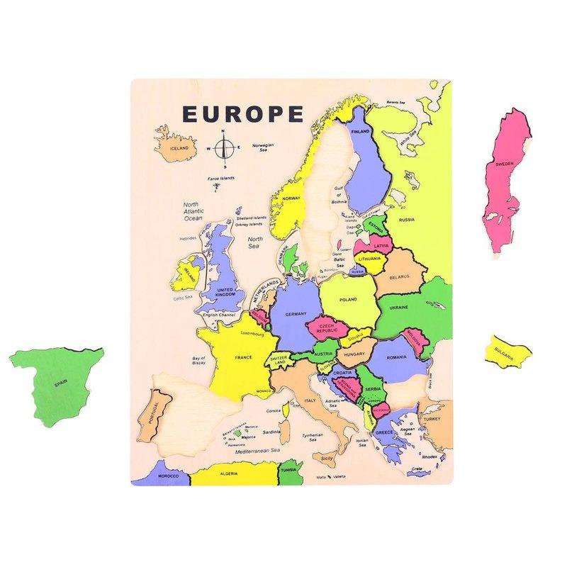 BigJigs Puzzle - incastru Europa